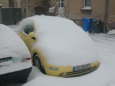 Schnee am 11. März 2006