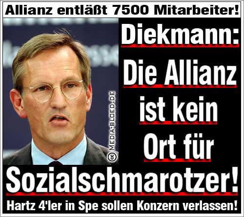 Dieckmann: Allianz kein Ort für Sozialschmarotzer
