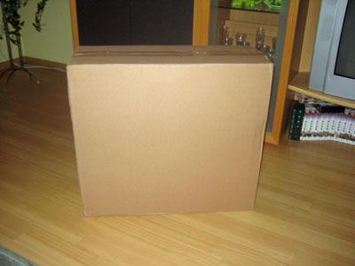 Ganz unscheinbar die braune Verpackung ...
